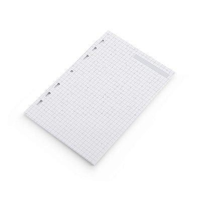 Refil Planner Organizador 125x200mm Quadriculado Cinza
