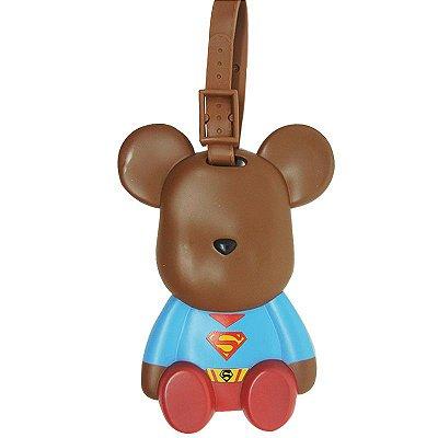 Identificador de Mala Ursinho Super-Homem