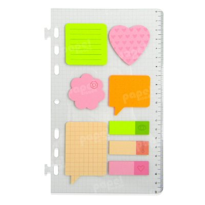 Refil Planner Organizador 7 Furos 125x200mm Post-It Neon