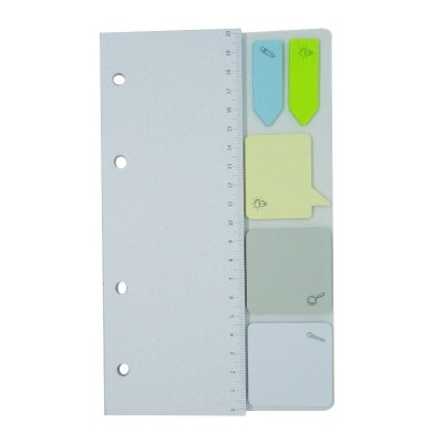Refil Planner Organizador 7 Furos 125x200mm Post-It Cinza