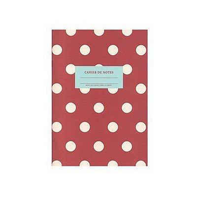 Caderninho Brochura Vermelho de Bolinhas