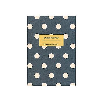 Caderninho Brochura Azul de Bolinha