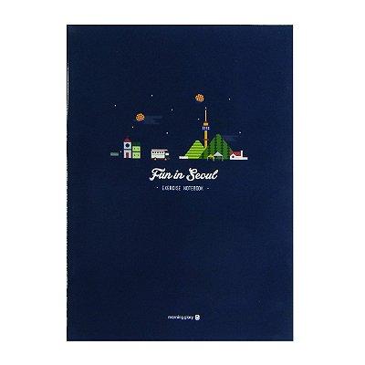 Caderno Brochura sem Pauta Cidade Seoul