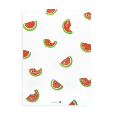 Caderno Brochura com Pauta Melancia