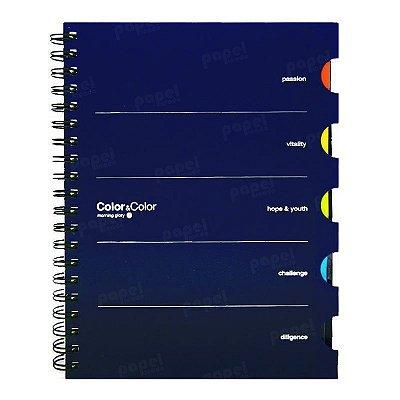 Caderno Color com 5 Matérias Azul