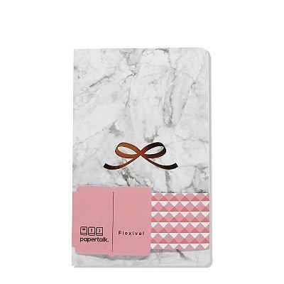 Caderno Flexível Love Marmorizado Quadriculado