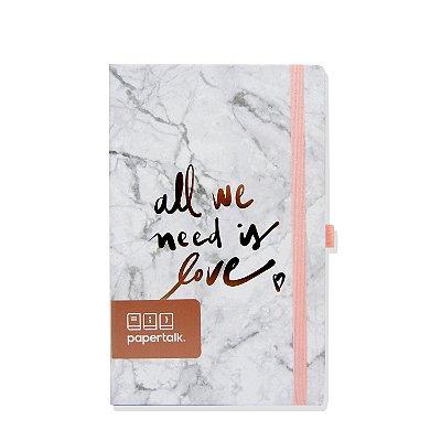 Caderno Papertalk Love Marmorizado Pautado
