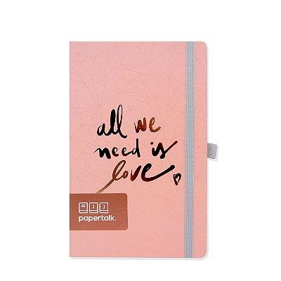 Caderno Papertalk Love Rosa Pautado