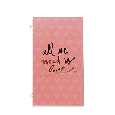 Refil Planner Organizador 125x200mm Caderno Avulso Love