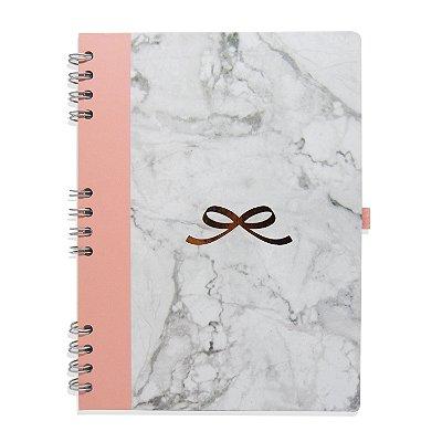 Caderno Espiral Love Marmorizado