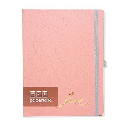 Caderno Brochura Love Rosa Pautado
