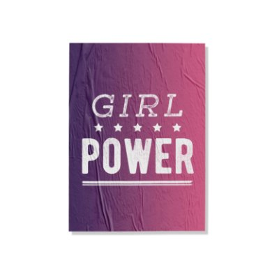 Placa Girl Power