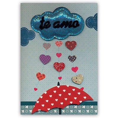 Cartão Amor Chuva Grande