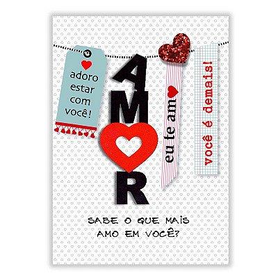 Cartão Amor Varal Grande