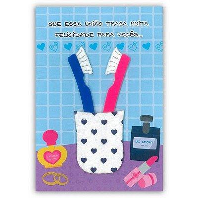 Cartão Casamento Juntar as Escovas Pequeno