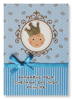 Cartão Nascimento Príncipe Pequeno
