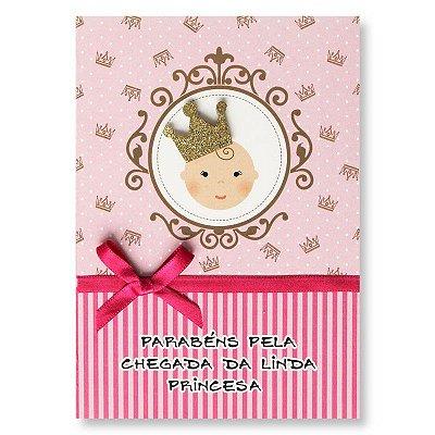 Cartão Nascimento Princesa Pequeno