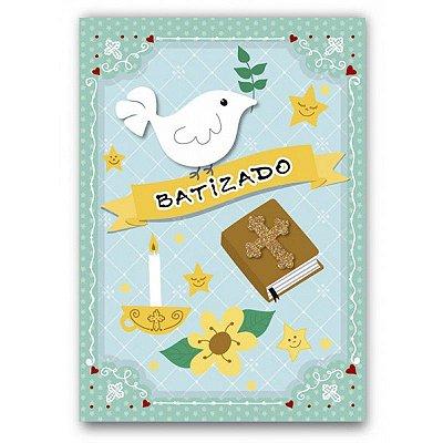 Cartão Batizado Bons Sentimentos Pequeno