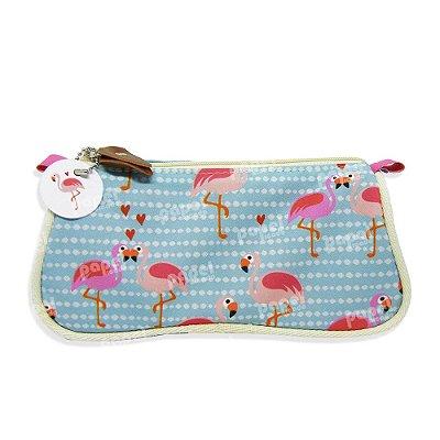Necessaire de Bolsa Flamingos