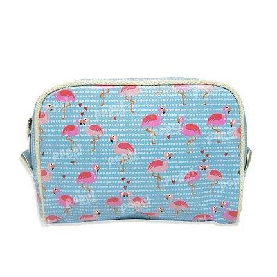 Necessaire Viagem Grande Flamingos