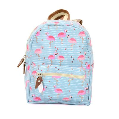 Mini Mochila Flamingos