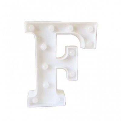 Luminária de Letra F