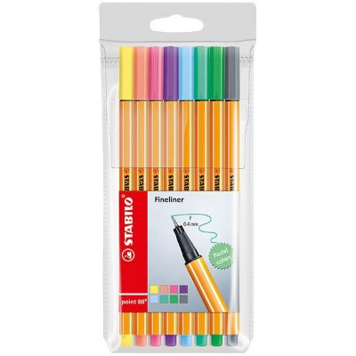 Kit 8 Cores Stabilo Point 88 Pastel