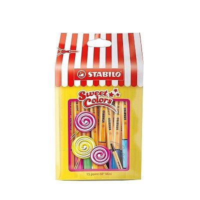 Kit Stabilo Point 88 Mini 15 Sweet Colors