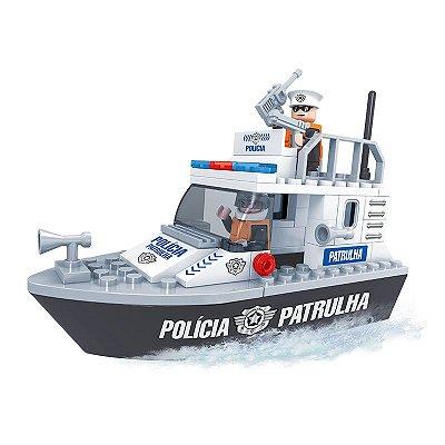 Brinquedo de Lego Barco Policial