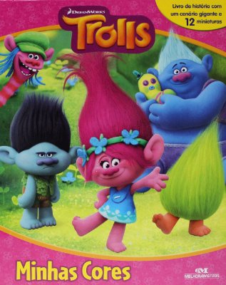 Livro de Historia com 12 Miniaturas Trolls