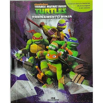 Livro Tartarugas Ninjas 12 Peças