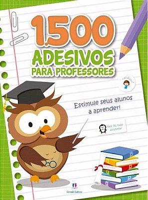 Caderno com 1500 Adesivos Para Professor Verde