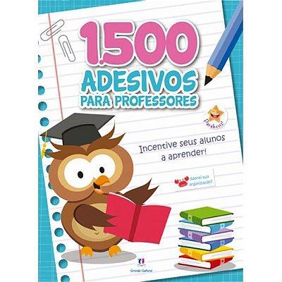 Caderno com 1500 Adesivos Para Professor Azul