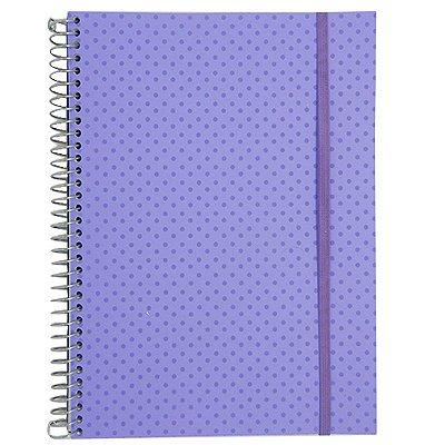 Caderno Universitário 96 Folhas Poá Lilás
