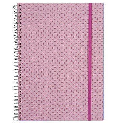 Caderno Universitário 192 Folhas Rosa Claro