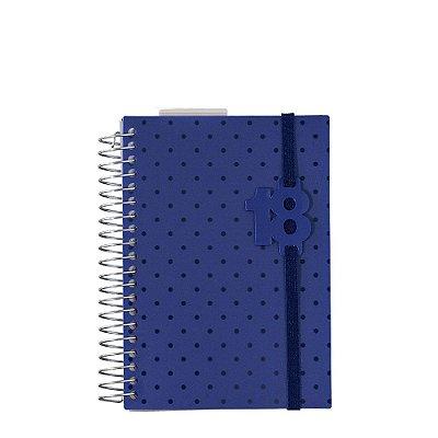 Mini Agenda Poá 2018 Azul Marinho
