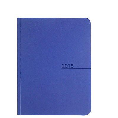 Agenda Grande Básica Flex 2018 Azul