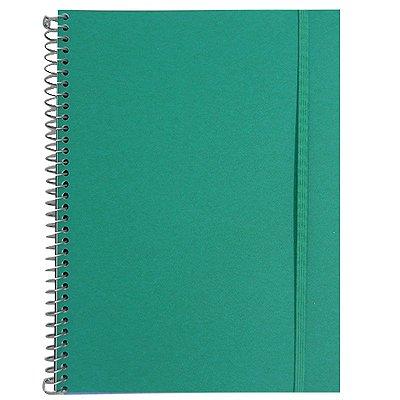 Caderno Universitário 96 Folhas Verde Água