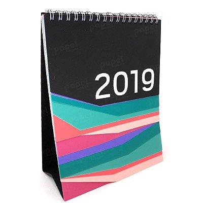 Calendário de Mesa Colorido 2019