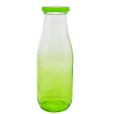 Garrafinha de Vidro 400ml Verde