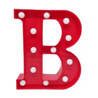Luminária Letra B Vermelha