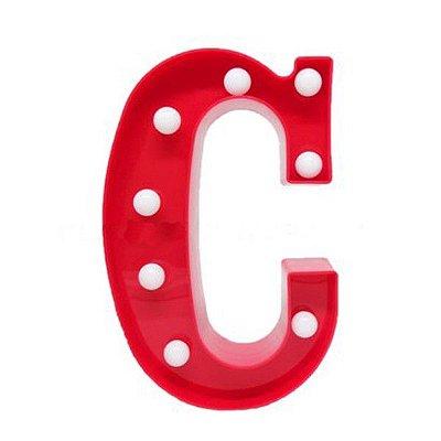 Luminária Letra C Vermelha