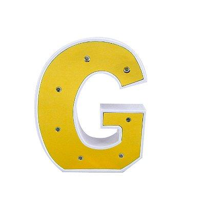 Luminária Letra G Dourada