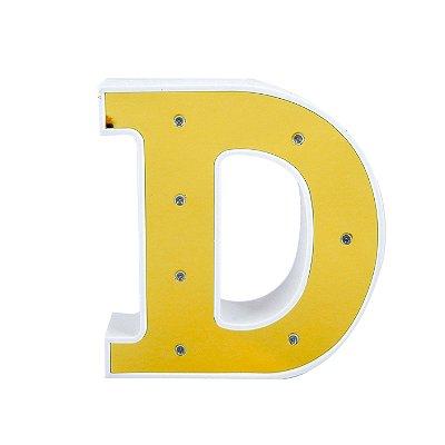Luminária Letra D Dourada