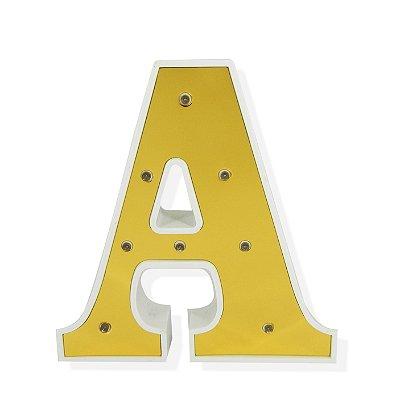 Luminária Letra A Dourada