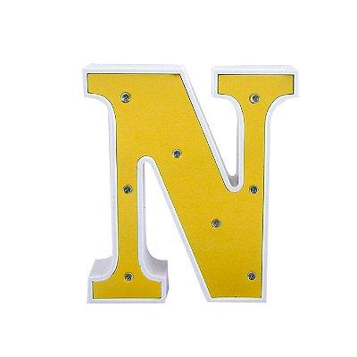 Luminária Letra N Dourada