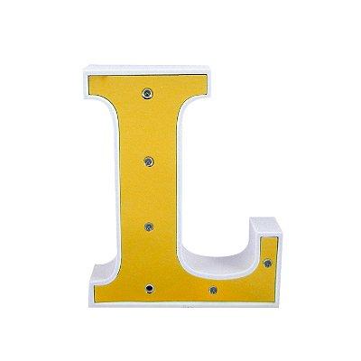 Luminária Letra I Dourado