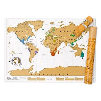 Mapa de Viagem Para Raspar