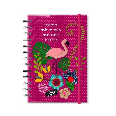 Agenda 2018 Espiral Flamingo Média