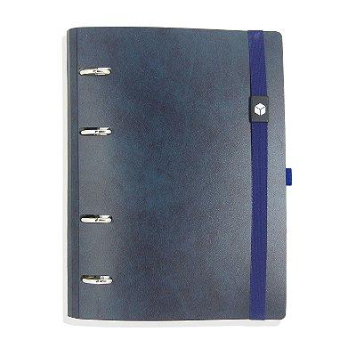 Planner Organizador Eco-Couro Antique Azul